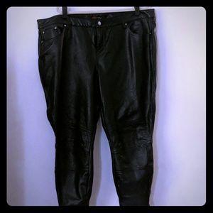 Faux Leather Moto Pants